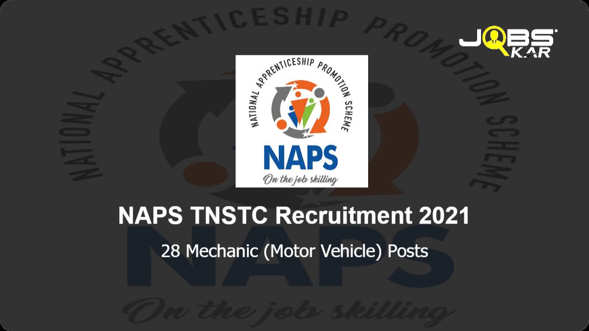 NAPS TNSTC Recruitment 2021: Apply Online for 28 Mechanic (Motor Vehicle) Posts