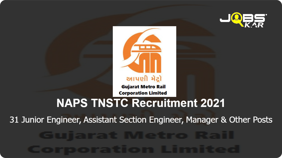 GMRC Recruitment 2021: Apply Online for 31 Junior Engineer, Assistant Section Engineer, Manager, Assistant Manager, Joint General Manager, Deputy General Manager, Section Engineer, Senior Section Engineer, Maintainer Posts