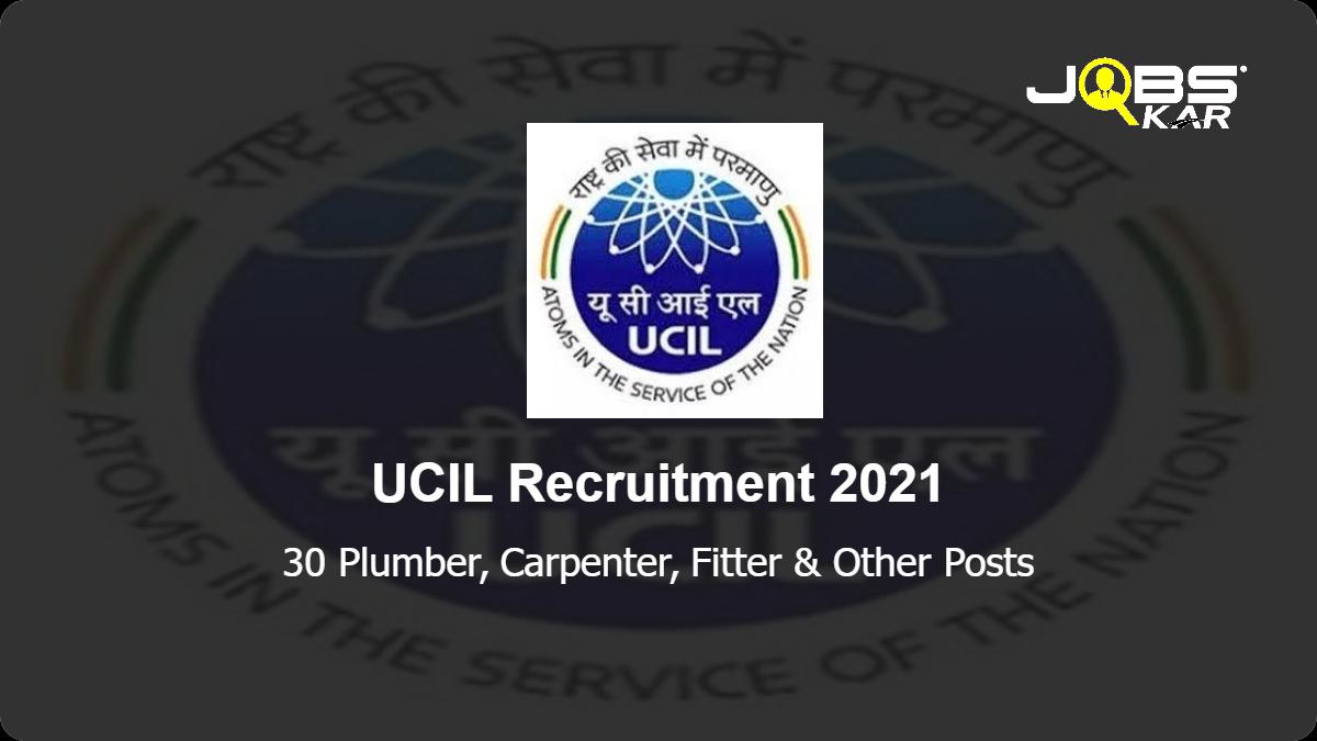 UCIL Recruitment 2021: Apply Online for 30 Plumber, Carpenter, Fitter, Welder, Electrician, Turner, Diesel Mechanic Posts