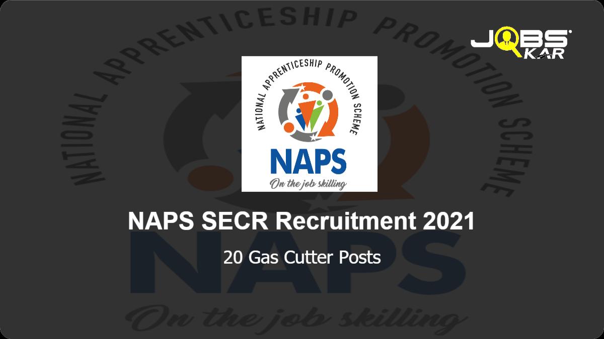 NAPS SECR Recruitment 2021: Apply Online for 20 Gas Cutter Posts